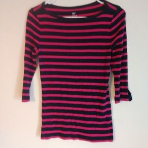 Gap long sleeve striped top size S